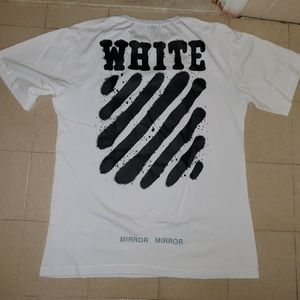 "Off-White ""Mirror Mirror"" White Tee"